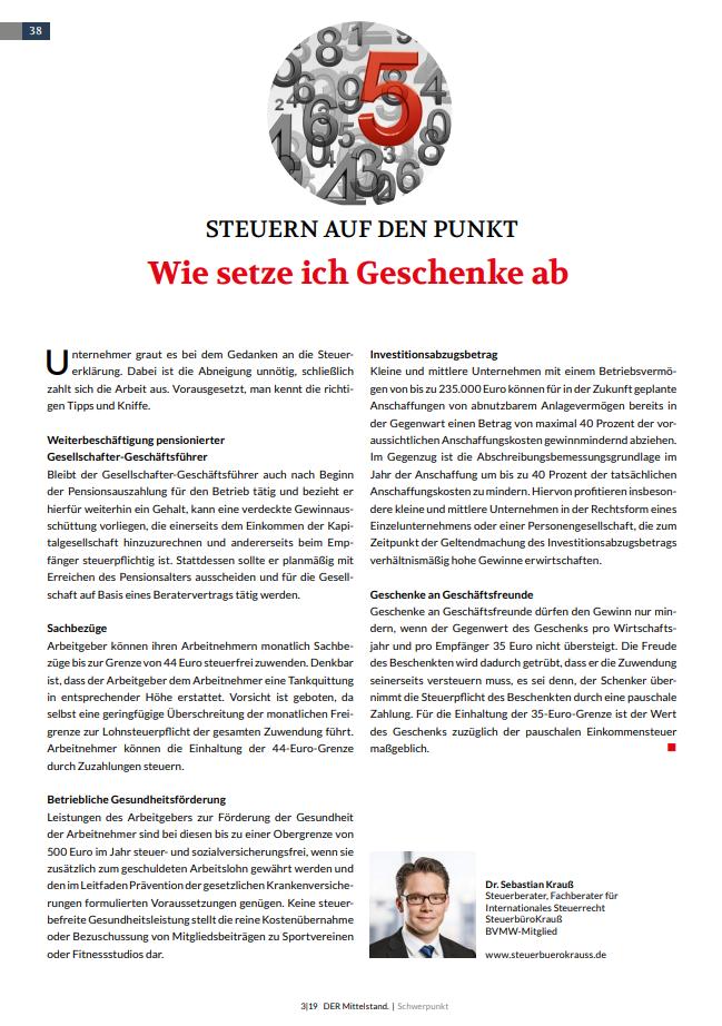 Der Mittelstand - Das Unternehmermagazin 3|2019